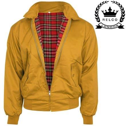 Relco NEW Mustard Yellow Harrington Jacket Skin Mod Scooter Ska Northern Soul